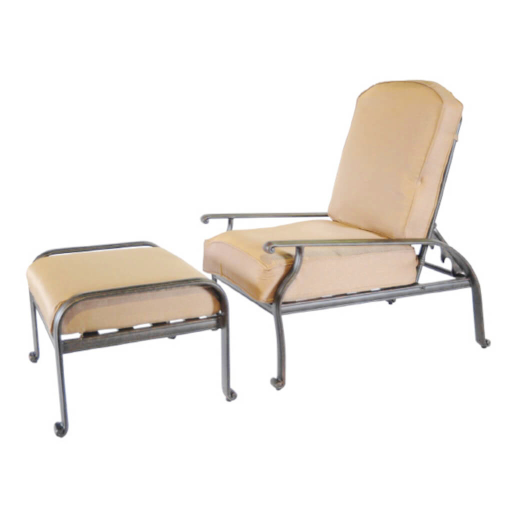 New Providence Adjustable Back Club Chair with Ottoman